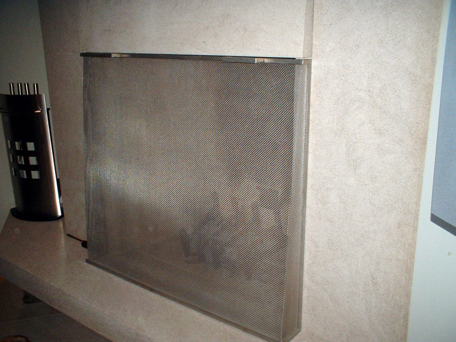 ornamental iron fire place screens